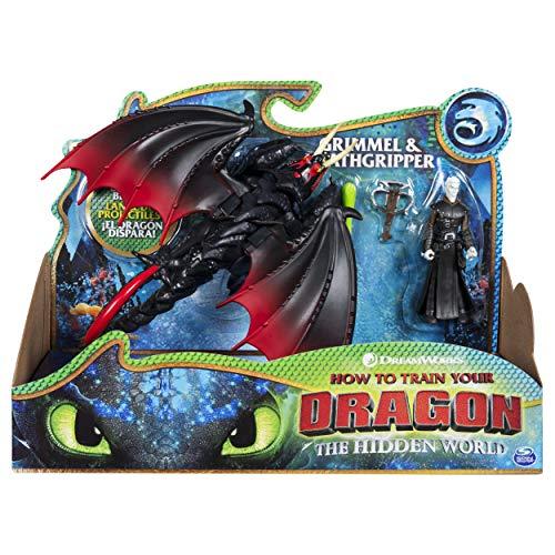 Spin Master Dragons Dragon & Viking Grimmel/Deathgrippers - Figuras de Juguete para niños, 4 año(s), Niño/niña, Dibujos Animados, Animales, Dragon Riders