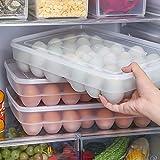 Sukisuki 34griglie uova Storage box picnic cucina frigorifero fresh-keeping contenitore impilabile Egg box Transparent