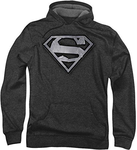 superman-nastro-adesivo-multiuso-felpa-con-cappuccio-da-uomo-nero-grigio