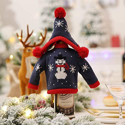 Gaddrt Weinflaschenabdeckung mit Schneemann-Motiv, Weihnachtsdekoration, New, B (Spray Dye Hair In)