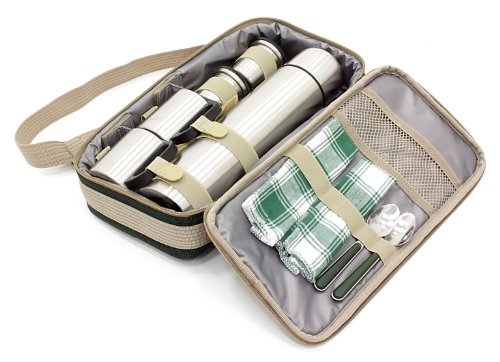 Greenfield Collection I Fulfilment Fp001dgh Luxury Flask Sac Pique Nique Pour Deux Personnes En Ve