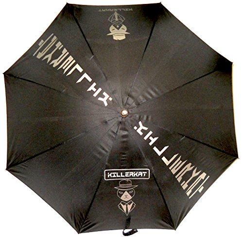 Ombrelli-Roma Parapluie pliant, blanc/noir (blanc) - ART. 432 BIANCO/NERO