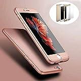 TUZECH iPhone 360 Smart Case with Logo Visible + Free Temper-Guard (Rose- Gold Colour) (Apple iPhone 6 Plus/6sPlus)