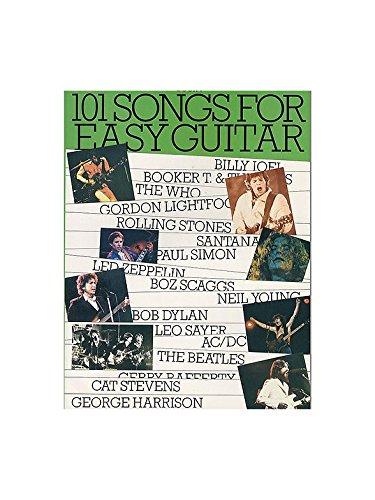 101 Songs For Easy Guitar Book 4. Partitions pour Guitare, Ligne De Mélodie, Paroles et Accords
