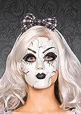 Womens gotico Halloween rotto bambola maschera