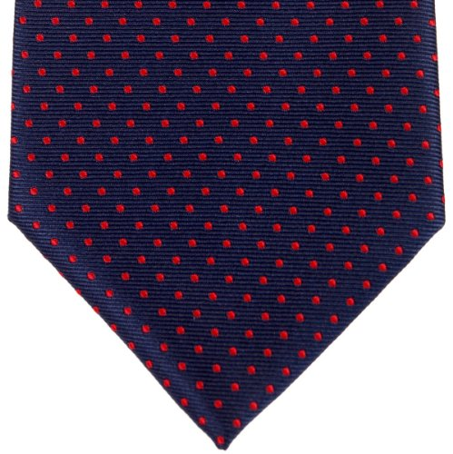Retreez - Cravate - Homme Bleu - marineblau mit rot punkten