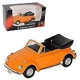 alles-meine.de GmbH Volkwagen Käfer Cabrio Offen Orange 1/43 Cararama Modell Auto mit individiuellem Wunschkennzeichen