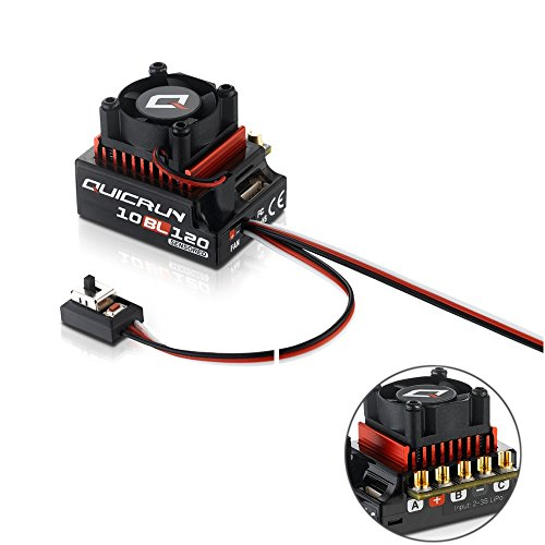 Hobbywing QUICRUN 10BL120 Sensored 120A 2-3S Lipo Regolatore di velocità Brushless ESC per 1/10 1/12 RC Car