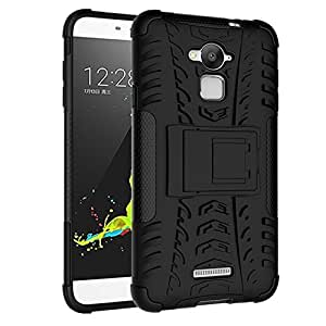 Aart CoolPad Dezone Note3 Hard Dual Hybrid Bumper rubber back case with Flip Kick Stand Cover by Aart Store.