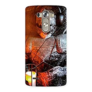Warrior Knight Print Back Case Cover for LG G3
