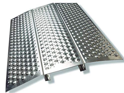 Rollstuhl Rampe Rollstuhlrampe Aluminium Länge 700 x Breite 600 x Höhe 50 bis 170 kg