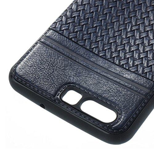 Cover Per Huawei P10, Asnlove TPU Moda Morbida Custodia Linee Intrecciate Caso Elegante Ultra Sottile Cassa Braided Stile Tessere Case Bumper Per Huawei P10 - Rosa Blu