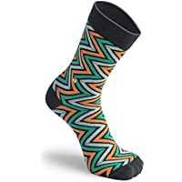 The Moja Club - Orange Green Zig- Zag Socks