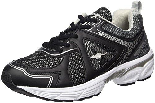 KangaROOS Unisex-Erwachsene KR-Run 5 Sneaker, Schwarz (Jet Black/Steel Grey), 41 EU