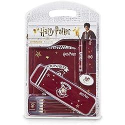 HARRY POTTER Gadget Scuola, Meraviglioso Set di Cartoleria Hogwarts, 12 Articoli di Cancelleria per Scuola e Ufficio con Quaderno Disegno, Matite, Astuccio, Regali Bambini