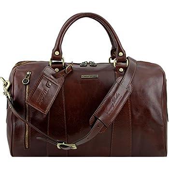 Tuscany Leather - TL Voyager - Sac de voyage en cuir - Petit modèle - Rouge B5qjuY6