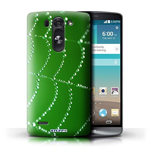 Kobalt® Imprimé Etui / Coque pour LG G3 S (Mini)/D722 / Vert conception / Série Toile d'araignée Perles Vert