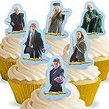 12 x Vorgeschnittene und Essbare Aufrecht Stehende Harry Potter Kuchen Topper (Tortenaufleger, Bedruckte Oblaten, Oblatenaufleger)