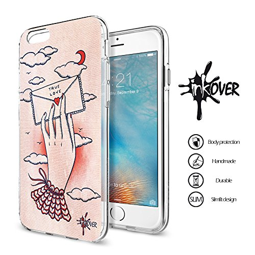 Cover iPhone 7 PLUS - INKOVER - Funda Carcasa Case Bumper Protección Protectora Soft Case Transparente Caso Slim Fit Tpu Gel INKOVER Design OLD SCHOOL The Sailor Mariano Vintage Retrò per APPLE iPhone OLD SCHOOL 5