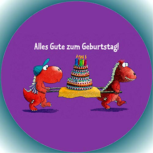 er Tortenbild Geburtstag Der kleine Drache Kokosnuss T8 ()