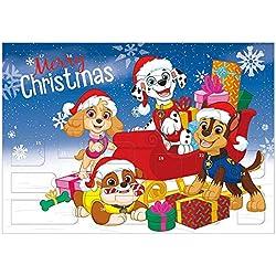 Undercover PPUT8023 Chase, Marshall, Ryder, Wally, Everest, Rocky, Zuma, Skye, Rubble - Calendario de Adviento para niños con 24 sorpresas de papelería, diseño de la Patrulla Canina 45 x 32 x 3 cm