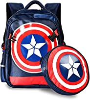 Cocosmart Backpack Purse Large Marvel American Captain'S Schoolbag Primary School Boys Backpack Children&#