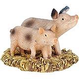 Wonderland Miniature Fairy Garden Two Piggy (1.25 Inches) For Planter Decoration, Bonsai, Terrarium, Garden Decor, Mini, Miniatures, Tray Garden, Doll House, Kids Room Decor, Gift, Home Decoration Item