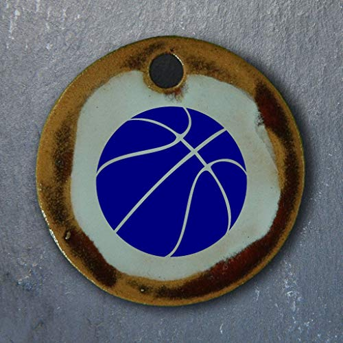Echtes Kunsthandwerk: Schöner Keramik Anhänger Volleyball; Sport, Verein, Vereinssport, Basketball