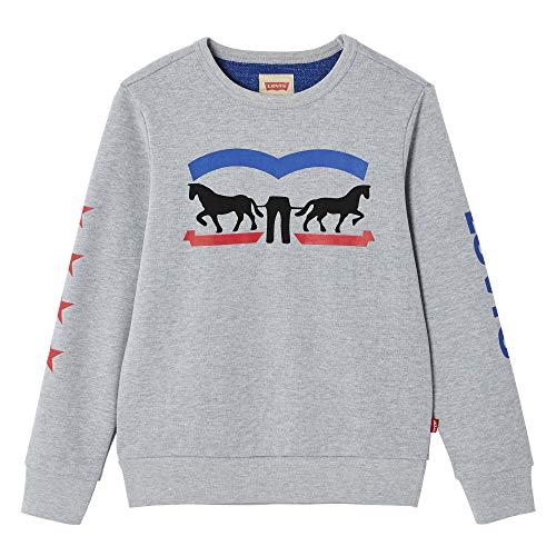Levi's Kids Jungen Nn15007 22 Sweat Shirt Sweatshirt, Grau (Light China Grey, 14 Jahre (Herstellergröße: 14Y) -
