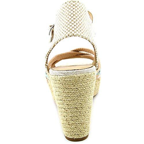 Lucky Brand Mahima Toile Sandales Compensés Pinenut Multi