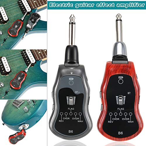 wokee Wiederaufladbarer 2,4 GHZ Wireless Gitarrenverstärker System Digital Guitar Transmitter Receiver,Grau -