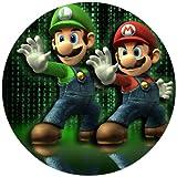 Tortenaufleger Tortenfoto Aufleger Foto Bild Super Mario Bros rund ca. 20 cm (1) *NEU*OVP*