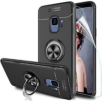 Coque pour Samsung Galaxy s9, étui magnétique Ultra Mince pour l'aimant Support téléphone