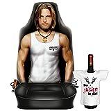 Witziger Sitzbezug fürs Auto mit hochwertigem Aufdruck - Sexy Boy - Im SET mit gratis Mini-Shirt der Jäger in dir!
