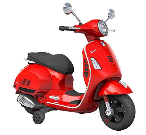 PIAGGIO Moto Scooter Elettrico Per Bambini 12V Vespa GS Sport Rossa