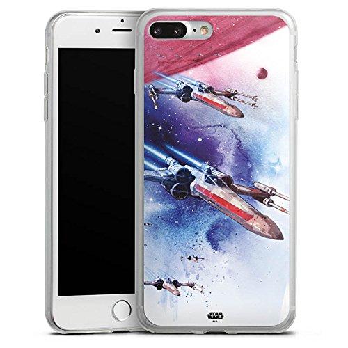 Apple iPhone 8 Plus Slim Case Silikon Hülle Schutzhülle Star Wars Merchandise Fanartikel X-Wing Silikon Slim Case transparent