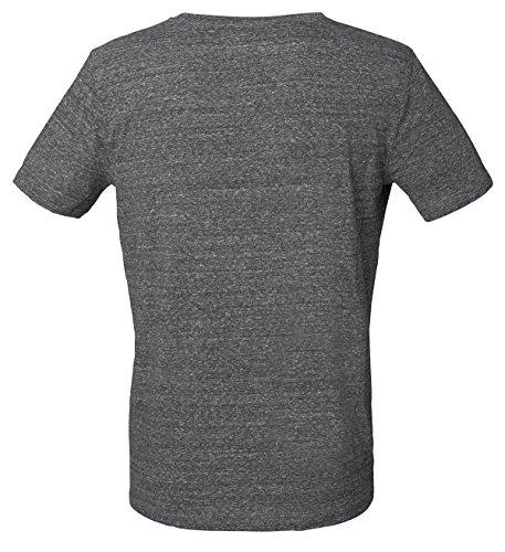 YTWOO Herren Rundhals Tshirt Aus 100% Bio-Baumwolle- in Diversen Farben Schwarz und Weiß bis 2XL - Organic, Herren Bio Shirt, Herren Bio T-Shirt Slub Steel Heather Grey