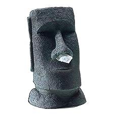 Taschentuchspender »Der große Moai«. Geeignet für eine rechteckige Standard-Taschentuchbox. Taschentücher werden durch die Nasenlöcher herausgezogen. In Form der berühmten Steinstatuen auf den Osterinseln - den Moai, Passend für alle rechteckigen Sta...