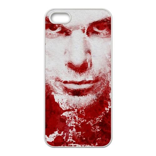 Dexter Blood coque iPhone 4 4S Housse Blanc téléphone portable couverture de cas coque EBDXJKNBO09606