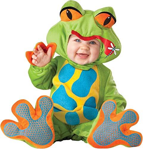 Kostüm Kind Deluxe Frosch - Deluxe Baby Jungen Mädchen grün Kleiner Frosch Tier Charakter Halloween Kostüm Kleid Outfit - Grün, 12-18 Months