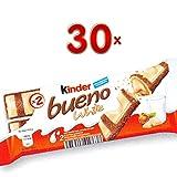 Kinder Bueno White Lait noisettes 30 x 39g Packung (Kinder Bueno-Riegel mit weißer Schokolade und Milch-Haselnuss-Creme)
