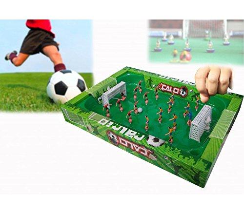 Juego fútbol portátil con muelles para facilitar el movimiento de los jugadores