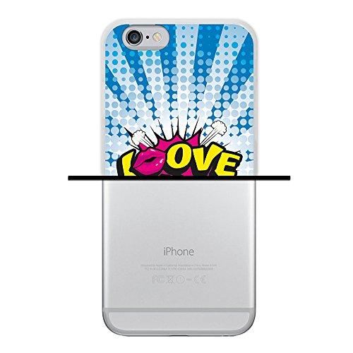 WoowCase Hülle Case für { iPhone 6 6S } Handy Cover Schutzhülle Graffiti Funny Farben Housse Gel iPhone 6 6S Transparent D0470