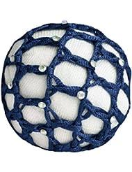 Haarnetze mit Glitzersteinchen, blau