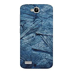 Neo World Blue Wood Alike Pattern Back Case Cover for Huawei Honor Holly