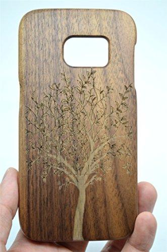 Holzsammlung® Samsung Galaxy S7 edge Legno Custodia - Albero di natale noce - Qualit à Premium Cover in Bambù / Legno Naturale per il tuoSmartphone
