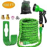 MiniYamaso Flexibler Gartenschlauch 30m 100ft 3/4 Zoll Gartenschläuche Erweiterbarer Auslaufsicherer Schlauch - Hochleistungs Flexibler, 8-Muster-Hochdruck-Wassersprühdüse