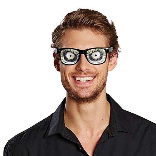 Amakando Brille Alien Alienbrille Monster Spaßbrille Große Augen Funbrille Karneval Insektenbrille Fasching Partybrille Augenbrille
