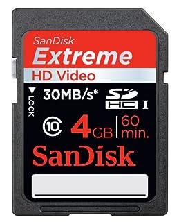 SanDisk SDSDX-004G-X46 Extreme SDHC 4GB Class 10 Speicherkarte (HD-Video, bis zu 30MB/s lesen) [Amazon Frustfreie Verpackung] (B007PYBPRG) | Amazon price tracker / tracking, Amazon price history charts, Amazon price watches, Amazon price drop alerts