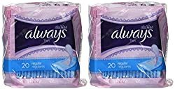 Always Dailies Thin Regular 20 count - 2 pack